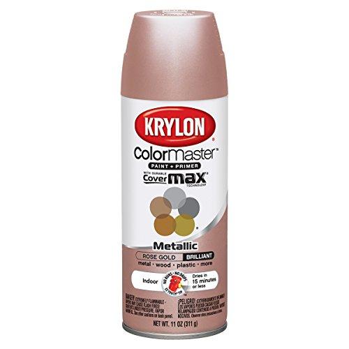 Amazon.com: Krylon Colormaster Indoor/Outdoor Aerosol Paint 12oz   ROSE GOLD