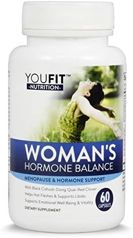 Hormonal Balance for Women & Menopause Support with Black Cohosh, Dong Quai, Red Clover, Soy Isoflavones and More | Hormone Relief Helps with Hot Flashs & Night Sweats and Others