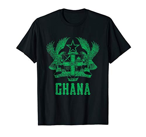 Ghana, Coat of Arms, Freedom and Justice, Osu Castle T-Shirt