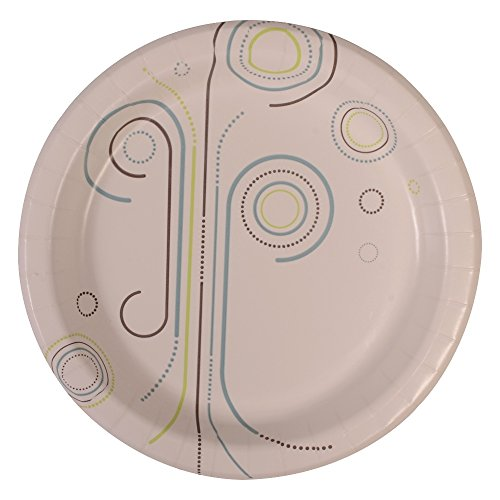 "Perfectware Plate 8 Everyday- 125 Coated Paper Plates for Everyday Use, 0.1"" Height, 8.5"" Width, 8.5"" Length (Pack of 125)"