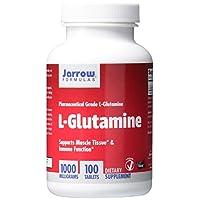Formulaciones de Jarrow Jarrow L-glutamina, compatible con el tejido muscular y la función inmune, 1000 mg, 100 tabletas de fácil solución