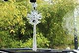 Crystal Flower Car Hanging Ornament Car Rear View