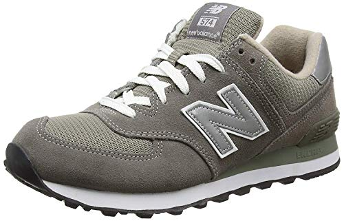 New Balance 574 Men's Sneakers Grey/Gray - 8 D - Grey/Silver/White