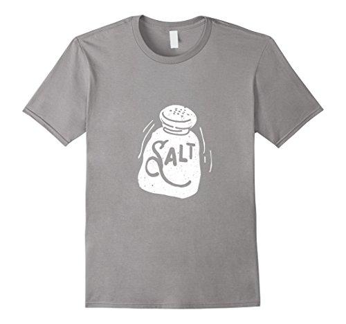 Salt Pepper Shaker Halloween Costumes (Mens Salt and Pepper Shaker Matching Halloween Costume T Shirt Large Slate)