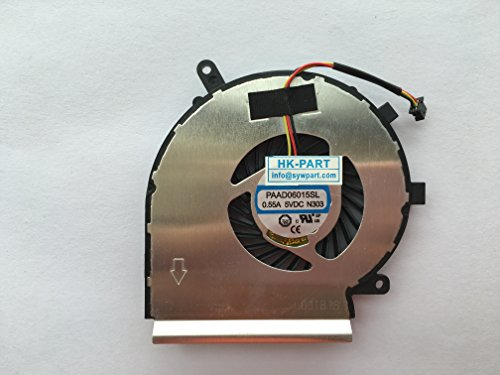HK-Part Laptop Cpu Cooling Fan 3-Pin 3-Wire For AAVID THERMALLOY PAAD06015SL 0.55A 5VDC N303 by sywpart (Image #2)