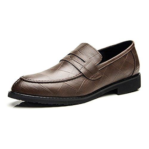 Zapatos De Marrón Sintético Hombre Feidaeu 4Bqd5wvxT