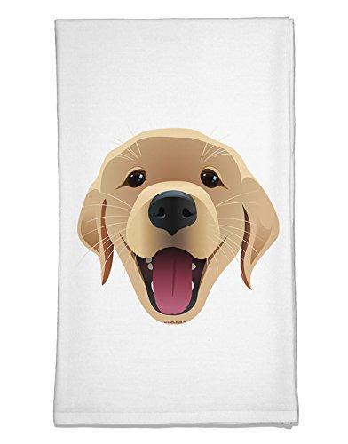 TooLoud Cute Golden Retriever Puppy Face Flour Sack Dish Towel