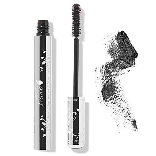 100% PURE Fruit Pigmented Ultra Lengthening Mascara Black Tea, 0.35 oz, Black Mascara, for Natural Mascara Strengthening, Thickening, and Lengthening