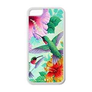 5C Phone Cases, Holly Hummingbird Hard Cover Case for iPhone 5C Designed by HnW Accessories