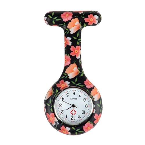 Trillycoler Mode Silikon Krankenschwesteruhr Medizinische FOB-Uhr Taschenuhr Ketteuhr