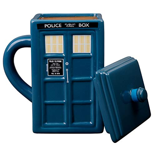 Doctor Who Tardis Mug | Official Square Shaped Ceramic Coffee Mug With Lid | Holds 17-Ounces of Your Favorite Coffee, Tea, Or Other Drink