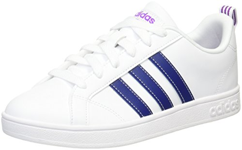 adidas Vs Advantage, Sneakers Basses Femme, Noir Multicolore (Ftwr White/mystery Ink F17/shock Purple F16 Ftwr White/mystery Ink F17/shock Purple F16)