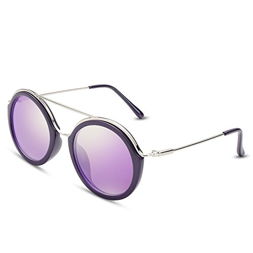 Purple Sunglasses gafas de gafas TL UV400 rectángulo púrpura Guía del polarizadas sol ronda mujer fBqZxZwO