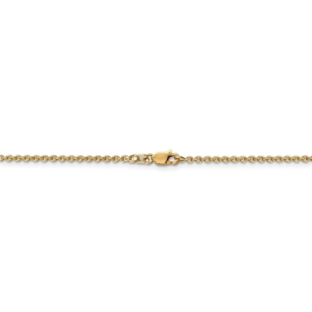 Diamond2Deal 14k Yellow Gold 1.8mm Solid Cable Chain Anklet 10inch Ideal Gifts For Women