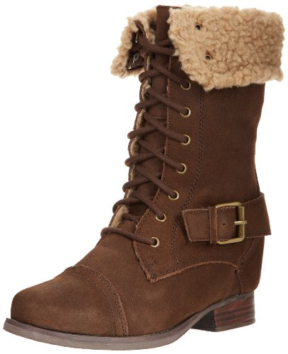 Skechers Women's Infantry Soldier Hidden Wedge Combat Boot - stylishcombatboots.com