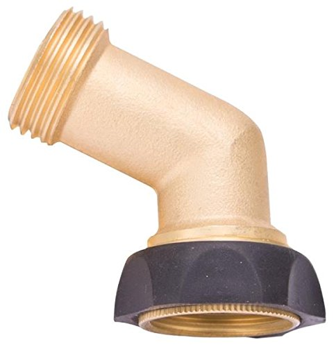 (Rocky Mountain Goods Kinking Hose Preventer Swivel Gooseneck Coupling - Solid Rust proof Brass - Perfect angle to prevent hose kinking - Leakproof - Allows full flow and pressure)
