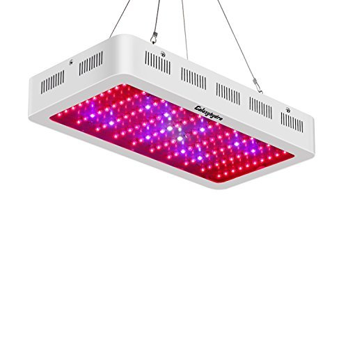 Roleadro Galaxyhydro 300w LED Grow Light Full Spectrum for Plants Veg and Flower, Added Daisy Chain Function, and Larger Size Plant Light