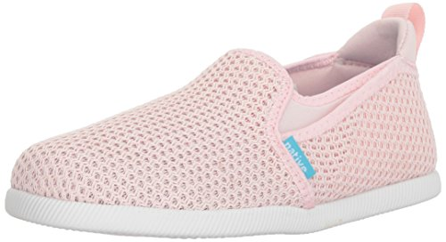 - native Kids Cruz Mesh Boat Shoe, Milk Pink/Shell White, 1 Medium US Little Kid