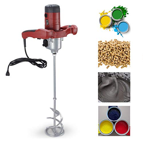 ARKSEN Electric Cement Grout Mortar Mixer Grip 110v Adjustable Speed Variable 6 Speed, ()