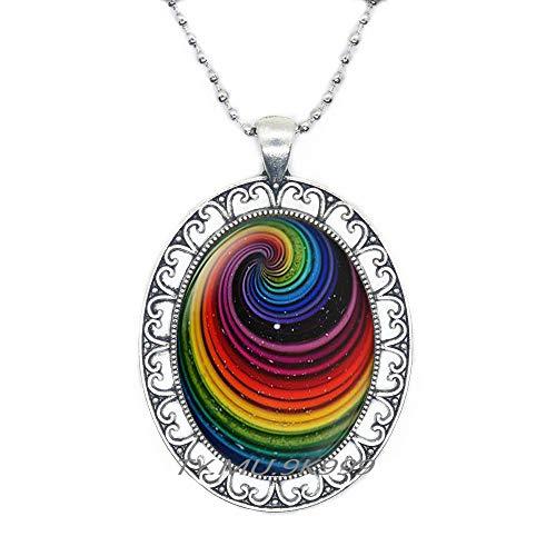 Yao0dianxku Rainbow Necklace,Pride Rainbow Necklace,Rainbow Art Jewelry,Rainbow Pendant,Rainbow Art Gift.Y216