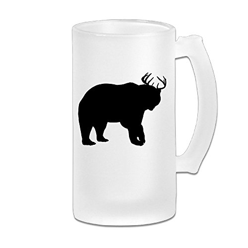 Handson Stainless Steel Vacuum Insulated Beer Mug Beer Deer Bear Cartoon Insulated Water Bottle - Natalie Glasses Portman