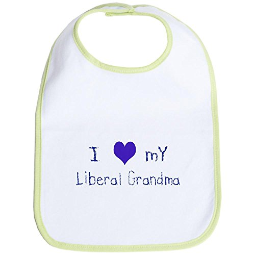 CafePress - I Love My Liberal Grandma Bib - Cute Cloth Baby Bib, Toddler (Bush Bib)
