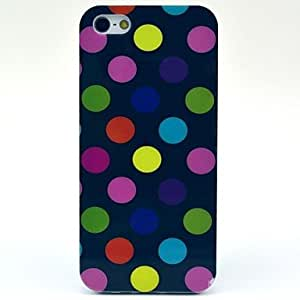 LZX Colourful Polka Dots Pattern TPU Soft Case for Iphone 5/5S