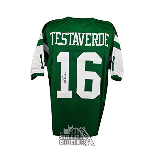 Testaverde Vinny Football (Vinny Testaverde Autographed Signed New York Jets Custom Green Football Jersey- JSA Authentic)