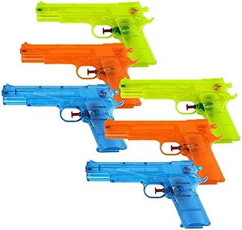Schramm® 6-Pack Pistola de Agua Classic ca. 17cm Pistola de Agua Pistola de Agua Pistola de Agua: Amazon.es: Juguetes y juegos