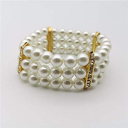 XSZPKL Pulsera de Perlas Blancas para Mujeres Accesorios de joyería de Moda Pulseras de Perlas Brazaletes Cadenas de dijes