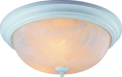 Boston Harbor Alabaster Ceiling Lighting - Boston Harbor BRT-FL2263L 2-Light Alabaster Ceiling Fixture, White