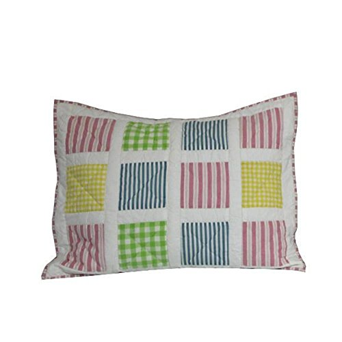 - Hand quilted Cotton Patchwork Pillow Sham Springworks from Patch Magic