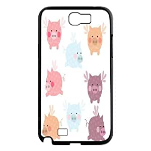 Tyquin Pig Samsung Galaxy Note 2 Cases Pig Art, {Black}