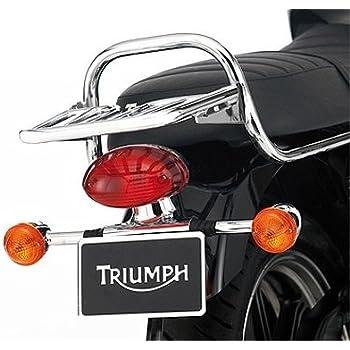 Amazoncom Triumph Bonneville Chrome Luggage Rack A9738191 Automotive