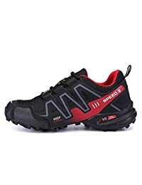 Padgene Men's Hiking Shoes Non Slip Outdoor Lace up Climbing Trail Running Shoes