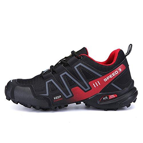 Confortables Et Pour De Quotidien Souples Chaussures Durables Noir Un Baskets Randonne Padgene Respirantes Hommes Usage Taqwzx