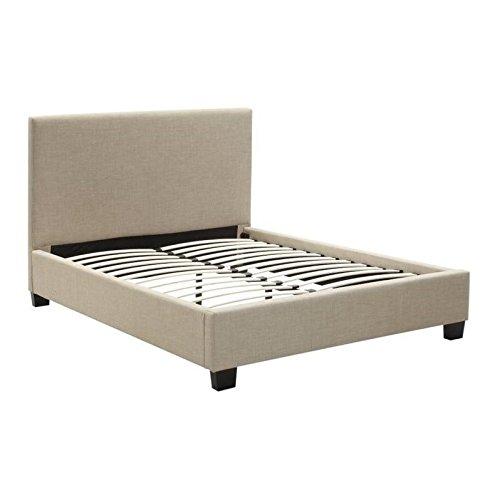 - Modus Furniture 3ZL7L58 Saint Pierre Linen Platform Bed, Queen, Toast