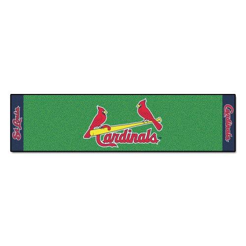 Cardinals Golf Putting Green - FANMATS MLB St Louis Cardinals Nylon Face Putting Green Mat