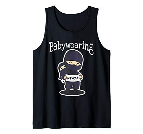 Babywearing Ninja Shirt for Babywearers Baby Carrier Lovers Tank Top (Best Ssc Baby Carrier)