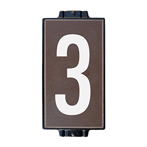 Chocolate Address Plaque 1 by Craftsman House Numbers