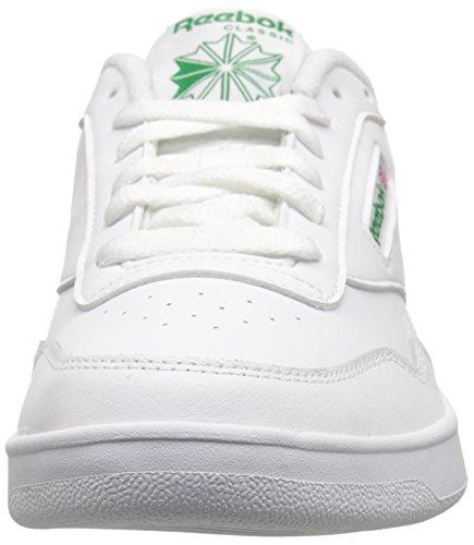 Reebok Men's Club MEMT Sneaker, White/Glen Green wide, 12 4E US