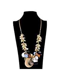 PSNECK Shell pendant leather chain necklace summer fashion collares jewelry display big statement long necklace
