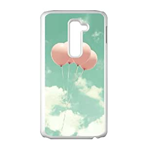 LG G2 Phone Case, With Multicolored Balloons Image On The Back - Colourful Store Designed
