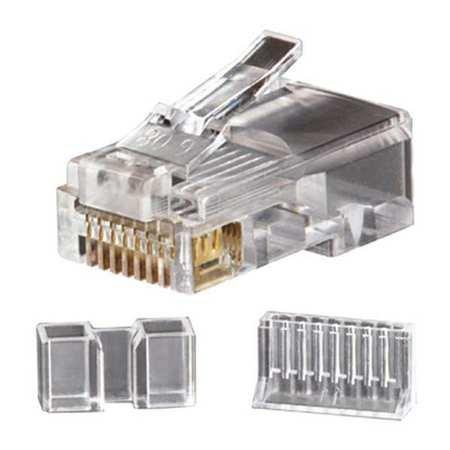 Klein Tools VDV826-603 RJ-45 Category 6 Modular Data Plug 8 Position 8 Contact Clear (Position Plug Modular 6)