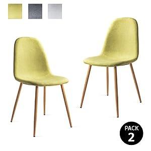 Mc Haus ELVA - Pack 2 Sillas Verde