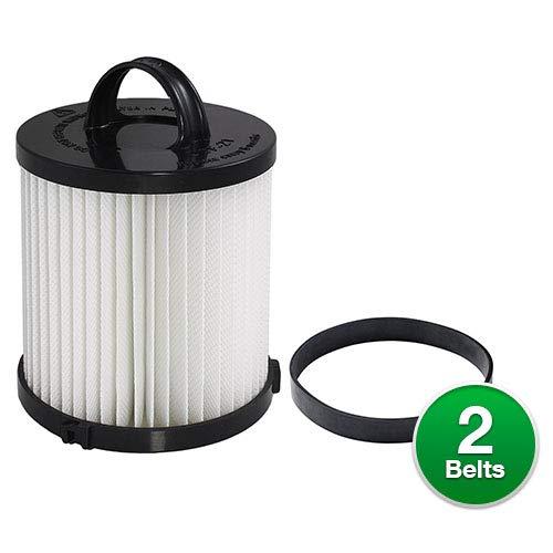 (EnviroCare Replacement HEPA Vacuum Filter for Eureka DCF-21 (1 Filter w/ 2 Type U Belt))
