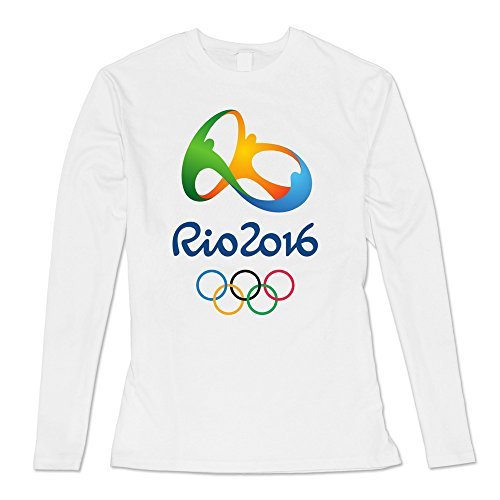 VARY Women's Rio 2016 Olympic Games Long Sleeve T-shirt White