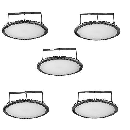 100W UFO LED High Bay Light lamp Factory Warehouse Industrial Lighting 10000 Lumen 6000-6500K IP65 Warehouse LED Lights- High Bay LED Lights- Commercial Bay Lighting for Garage Factory Workshop 5pcs