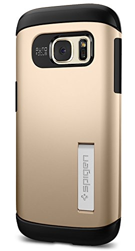 Spigen Slim Armor Galaxy S7 Case with Kickstand and Air Cushion Technology and Hybrid Drop Protection for Samsung Galaxy S7 2016 - Champagne Gold