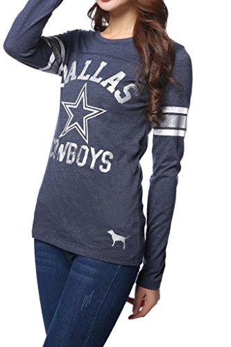 Womens Pink Victoria's Secret NFL Dallas Cowboys T-shirt Large